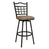 "Pastel Furniture Geneva 26"" Swivel Bar Stool with Cushion"