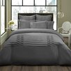 City Scene Triple Diamond Duvet Cover Set in Grey