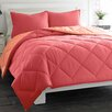 City Scene Microfiber Comforter Set in Red