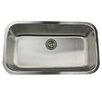 "<strong>Nantucket Sinks</strong> 32.38"" x 18.88"" Single Bowl Stainless Steel Kitchen Sink"