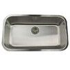 "Nantucket Sinks 32.38"" x 18.88"" Single Bowl Stainless Steel Kitchen Sink"