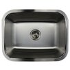 "Nantucket Sinks 23.19"" x 17.94"" Single Bowl Stainless Steel Kitchen Sink"