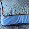 Modern Vintage Blue Square Cotton Pillow