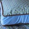 Modern Vintage Blue Square Cotton Pillow