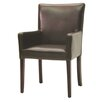 <strong>Hudson Woven Back Arm Chair in Dark Brown</strong> by Palecek