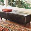 <strong>Palecek</strong> Hudson Leather Low Bench in Dark Brown