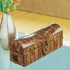 Palecek Inlaid Mahogany Bark Domed Box