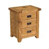 Kelburn Furniture Parnell 3 Drawer Bedside Table