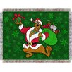 <strong>Northwest Co.</strong> Entertainment Tapestry Holiday Throw Blanket - Scooby Doo Santa
