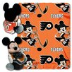 Northwest Co. NHL Philadelphia Flyers Mickey Mouse Fleece Throw