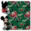 Northwest Co. NHL Minnesota Wild Mickey Mouse Fleece Polyester Throw