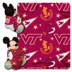 Northwest Co. College NCAA Virginia Tech Mickey Mouse Polyester Fleece Throw