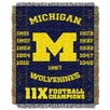 Northwest Co. NCAA Michigan Commemorative Woven Throw Blanket