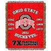 Northwest Co. NCAA Ohio State Commemorative Woven Throw Blanket