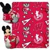 Northwest Co. NCAA Wisconsin Mickey Mouse Polyester Fleece Throw