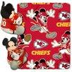 Northwest Co. NFL Kansas City Chiefs Mickey Mouse Polyester Fleece Throw