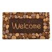 Design by AKRO Welcome River Rocks Coir Doormat