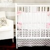 <strong>New Arrivals</strong> Peace, Love and Pink 3 Piece Crib Bedding Set