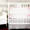 New Arrivals Peace, Love and Pink 4 Piece Crib Bedding Set
