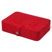 Renee Sectioned Sueded Jewelry Box in Red