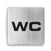 "Signo Door Plate ""WC"""