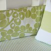 Modern Berries Peak-a-Boo Pleat Crib Skirt in Spring Green