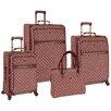 Pierre Cardin Signature Spinner 4 Piece Luggage Set