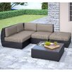 <strong>dCOR design</strong> Seattle 5 Piece Lounge Seating Group with Cushion