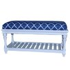 Crestview Collection Atlantic Upholstered Accent Bedroom Bench