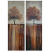 Crestview Collection Fall Day Stretched Canvas High Gloss Oil 2 Piece Painting Print on Canvas Set (Set of 2)