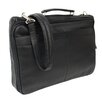 Piel Leather Entrepreneur Double Executive Laptop Briefcase