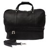 "<strong>Piel Leather</strong> Traveler 20"" Leather False Bottom Travel Duffel"