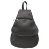 Piel Leather Fashion Avenue Flap-Over Sling Backpack