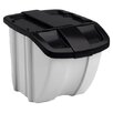 Suncast Storage Trends 18 Gallon Industrial Recycling Bin (Set of 2)