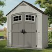 Suncast Cascade 7.5ft. W x 4ft. D Resin Storage Shed