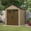 Suncast Everett 6 Ft. D x 8 Ft. D Resin Storage Shed