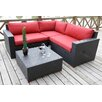 <strong>Bellini Home and Garden</strong> Pasadina Conversation Sectional 4 Piece Deep Seating Group with Cushions
