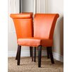 Abbyson Living Wellson Leather Dining Chair (Set of 2)
