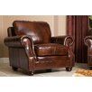 Abbyson Living Karington Hand Rubbed Leather Armchair