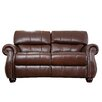 <strong>Abbyson Living</strong> Houston Italian Leather Loveseat