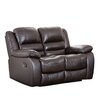 <strong>Abbyson Living</strong> Providence Italian Leather Reclining Loveseat