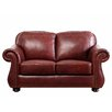 <strong>Abbyson Living</strong> Harbor Premium Leather Loveseat