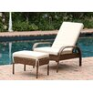 Abbyson Living Palermo Chaise Lounge with Cushion
