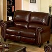 Charlotte Leather Reclining Loveseat