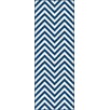 Tayse Rugs Metro Blue Chevron Rug