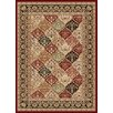 Tayse Rugs Sensation Red Checked Rug