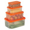 Honey Can Do 4 Piece Rectangular Food Storage Container Set