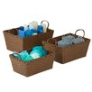 Honey Can Do 3 Piece Paper Rope Basket Set