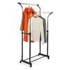 Honey Can Do Flared Double Garment Rack in Black & Chrome