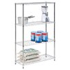 <strong>Honey Can Do</strong> Four Tier Shelving Unit in Chrome